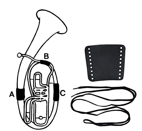 Gewa 720582 Handschutz Leder Flügelhorn, Schnürverschluss